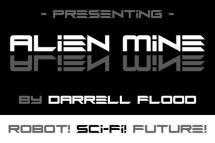Alien Mine Font By Dadiomouse