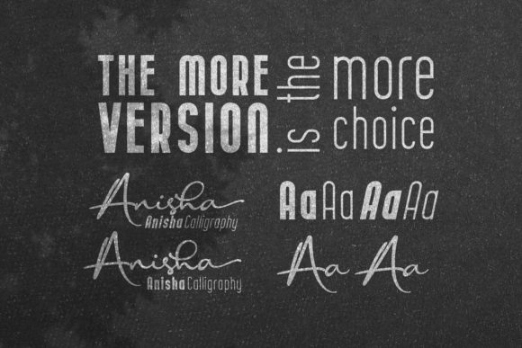 Print on Demand: Anisha Display Font By 38.lineart - Image 4