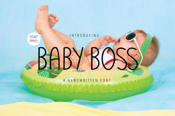 Print on Demand: Baby Boss Sans Serif Font By nirmala.graphics