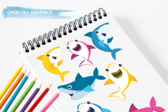 Print on Demand: Baby Sharks Graphic Illustrations By Prettygrafik - Image 3