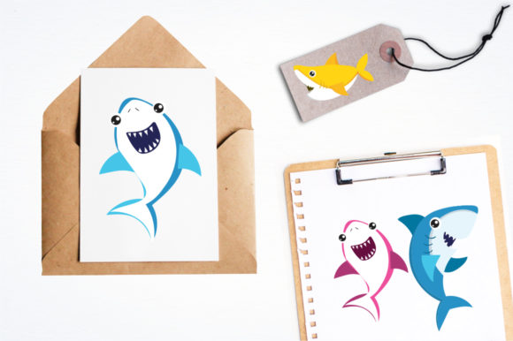 Print on Demand: Baby Sharks Graphic Illustrations By Prettygrafik - Image 4