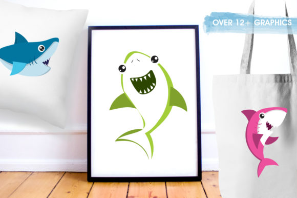 Print on Demand: Baby Sharks Graphic Illustrations By Prettygrafik - Image 5