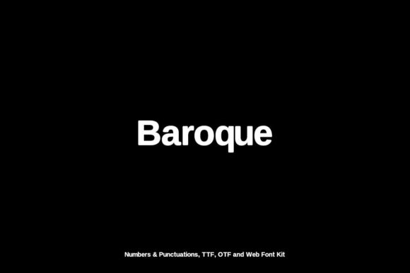 Print on Demand: Baroque Sans Serif Font By Webhance