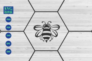 Bee Bee with Hexagonal Shape Graphic By svgBank