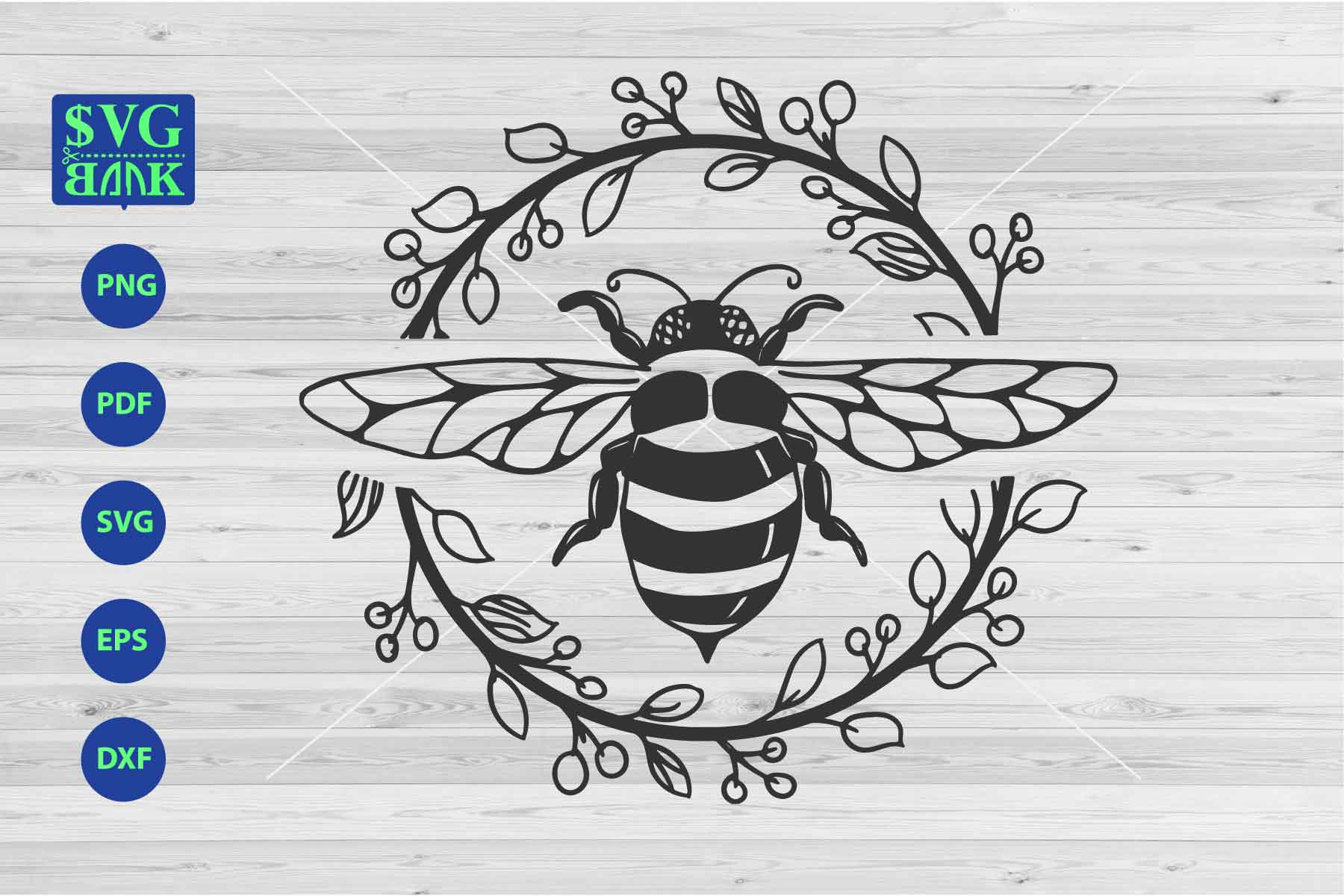 Download Free Bee Graphic By Svgbank Creative Fabrica for Cricut Explore, Silhouette and other cutting machines.