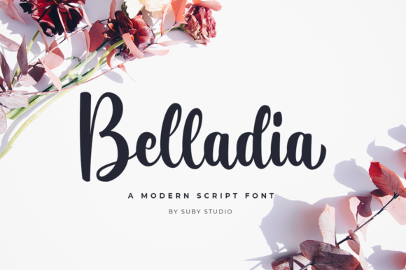Print on Demand: Belladia Script & Handwritten Font By Suby Store