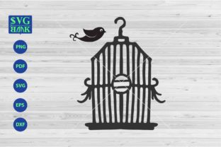Bird Cage Graphic By svgBank