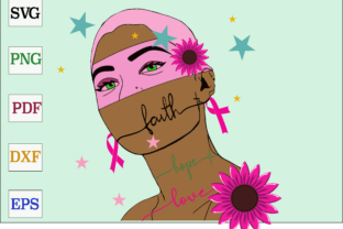 Download Free Black Girl Breast Cancer Gift Graphic By Monopole499707 for Cricut Explore, Silhouette and other cutting machines.