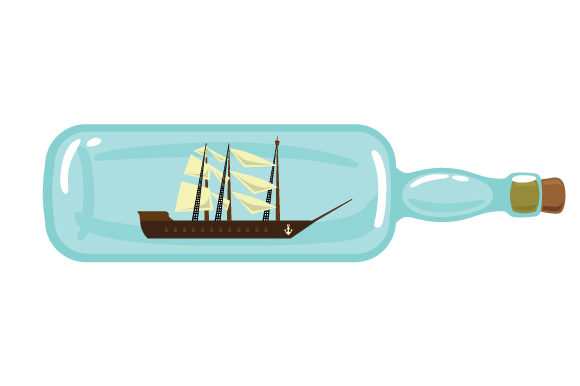 Boat with Sails Inside Glass Bottle Nautical Craft Cut File By Creative Fabrica Crafts