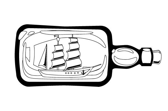 Boat with Sails Inside Glass Bottle Nautical Craft Cut File By Creative Fabrica Crafts - Image 2