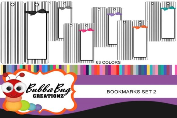 Bookmarks Set 2 Graphic Crafts By BUBBABUG