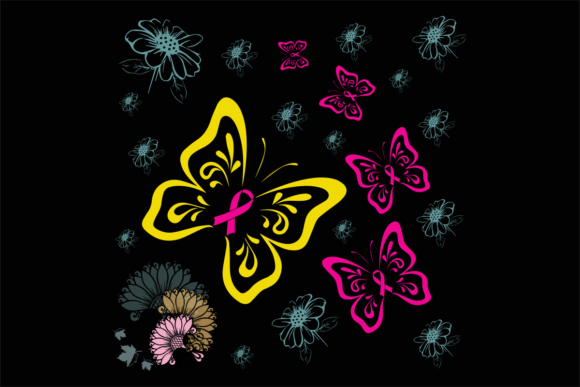 Breast Cancer Butterfly Graphic By monopole499707