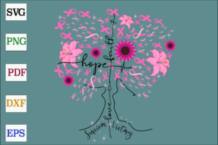 Download Free Breast Cancer Pink Ribbon Tree Graphic By Monopole499707 SVG Cut Files
