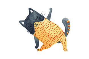 Cat Doing Yoga - Watercolor Craft Design By Creative Fabrica Crafts