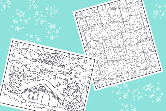 Print on Demand: Christmas Coloring Pages 9 Vector Items Graphic Illustrations By tatiana.cociorva - Image 4