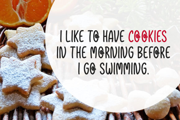 Print on Demand: Christmas Cookies Script & Handwritten Font By Shattered Notion - Image 2