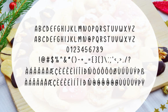 Print on Demand: Christmas Cookies Script & Handwritten Font By Shattered Notion - Image 4