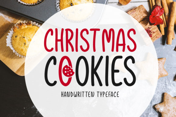 Print on Demand: Christmas Cookies Script & Handwritten Font By Shattered Notion