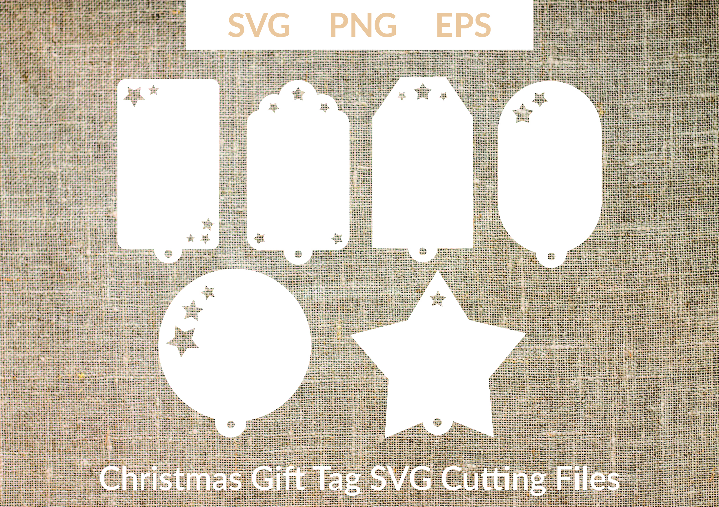 Download Free Christmas Gift Tags Cut Files Graphic By Liebreizdesign Creative Fabrica for Cricut Explore, Silhouette and other cutting machines.