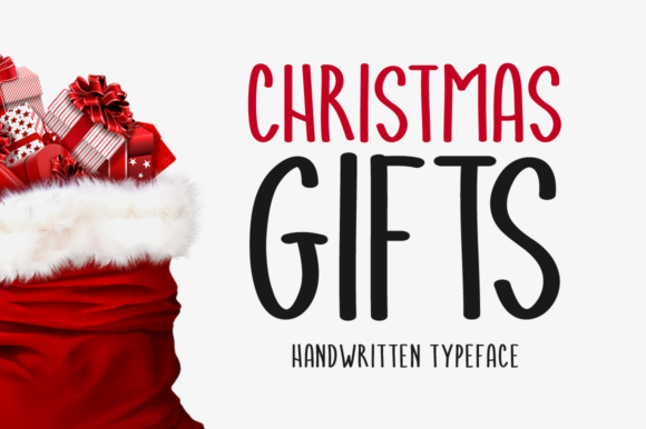 Print on Demand: Christmas Gifts Script & Handwritten Font By Shattered Notion - Image 1