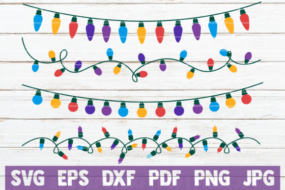 Download Free Christmas Lights Graphic By Mintymarshmallows Creative Fabrica for Cricut Explore, Silhouette and other cutting machines.