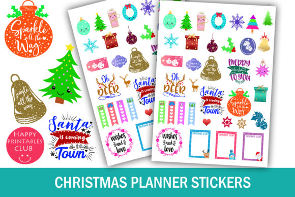 Print on Demand: Christmas Planner Stickers-Holidays Graphic Crafts By Happy Printables Club
