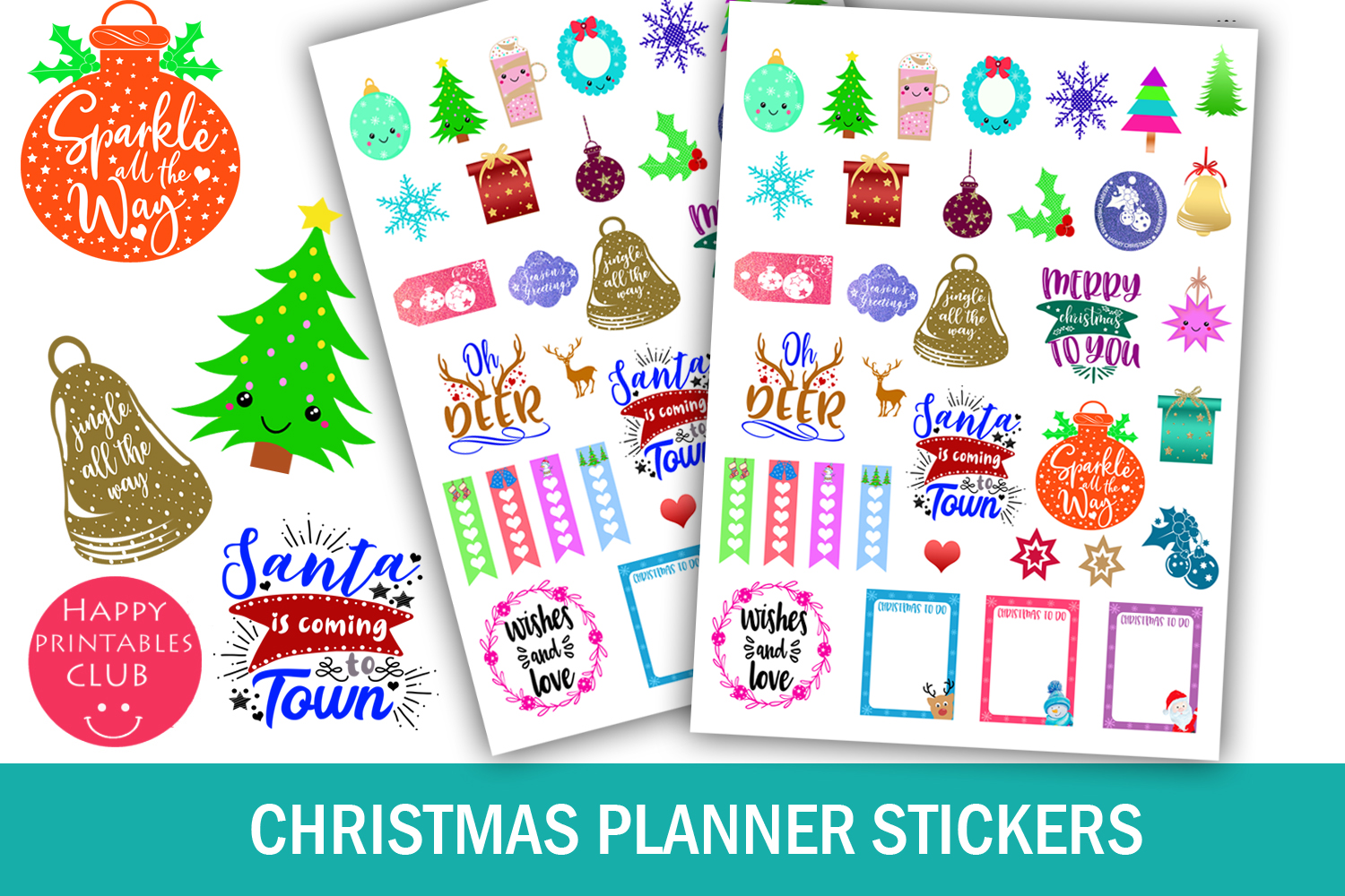 Download Free Christmas Planner Stickers Holidays Graphic By Happy Printables for Cricut Explore, Silhouette and other cutting machines.