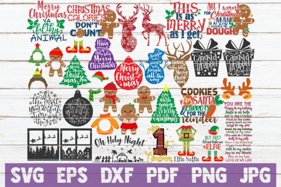 Christmas SVG Bundle Graphic Graphic Templates By MintyMarshmallows