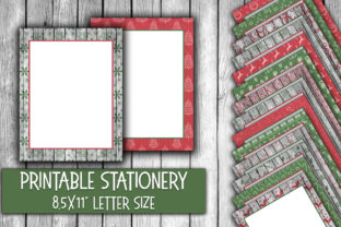 Christmas Stationery Rustic Christmas Graphic By oldmarketdesigns