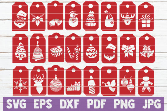 Christmas Tags Graphic Graphic Templates By MintyMarshmallows