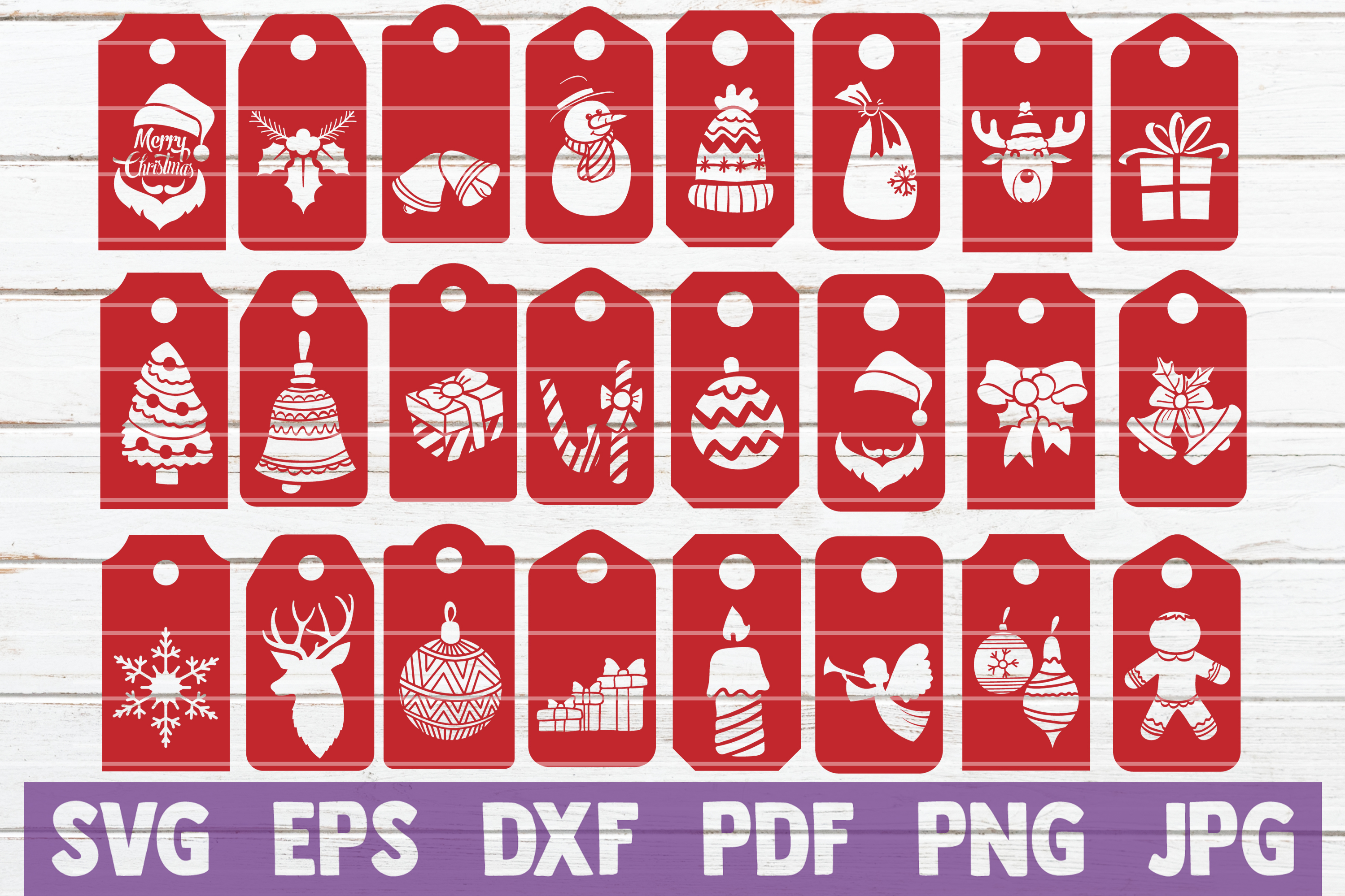 Download Free Christmas Tags Graphic By Mintymarshmallows Creative Fabrica for Cricut Explore, Silhouette and other cutting machines.