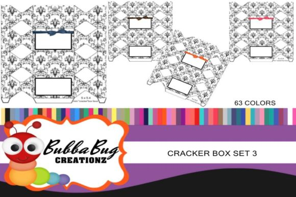 Cracker Box Set 3 Graphic Crafts By BUBBABUG