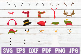 Create Your Own Snowman Kit SVG Bundle Graphic By MintyMarshmallows