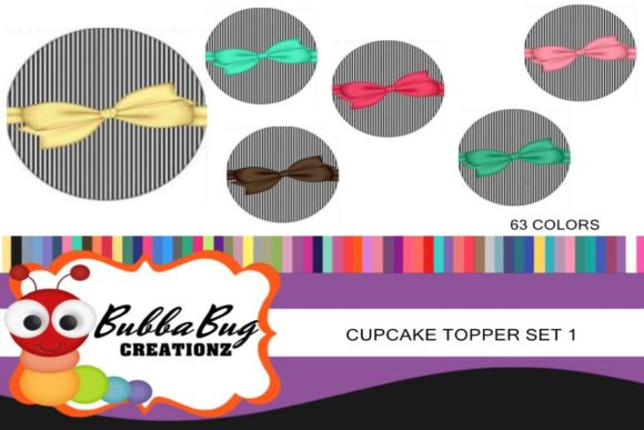 Cupcake Toppers Set 1 Graphic Crafts By BUBBABUG