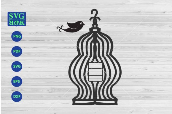 Print on Demand: Cute Bird Cage Graphic Crafts By svgBank