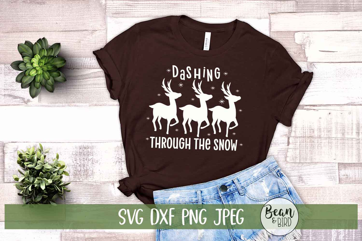 Download Free Dashing Through The Snow Graphic By Jessica Maike Creative Fabrica for Cricut Explore, Silhouette and other cutting machines.