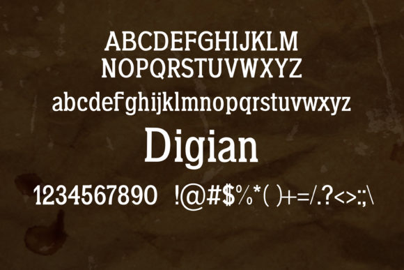 Digian Font By maxim.90.ivanov Image 2