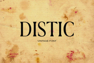 Distic Font By maxim.90.ivanov