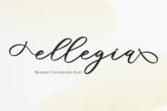 Print on Demand: Ellegia Script & Handwritten Font By Masha Artifex