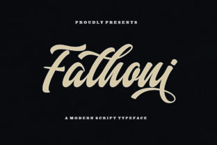 Print on Demand: Fathoni Script & Handwritten Font By LetterFreshStudio
