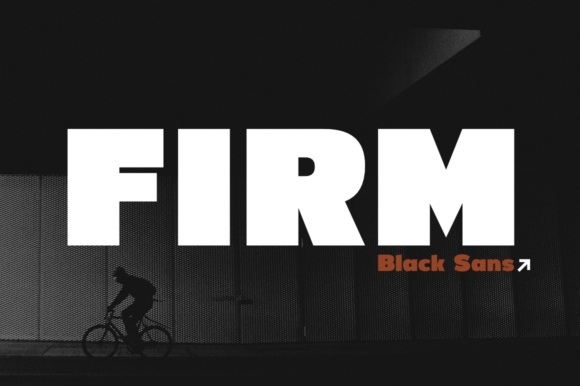 Print on Demand: Firm Sans Serif Font By Pasha Larin