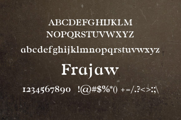 Print on Demand: Frajaw Serif Font By maxim.90.ivanov - Image 2
