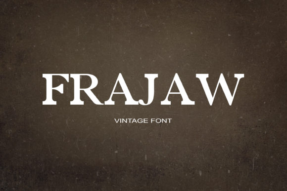 Print on Demand: Frajaw Serif Font By maxim.90.ivanov - Image 1