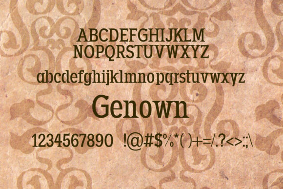 Print on Demand: Genown Serif Font By maxim.90.ivanov - Image 2