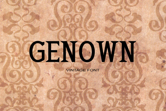 Print on Demand: Genown Serif Font By maxim.90.ivanov - Image 1