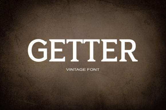 Print on Demand: Getter Serif Fuente Por maxim.90.ivanov