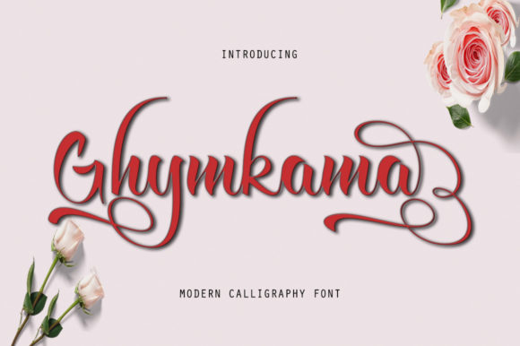 Print on Demand: Ghymkama Slant Script & Handwritten Font By sapre.studio