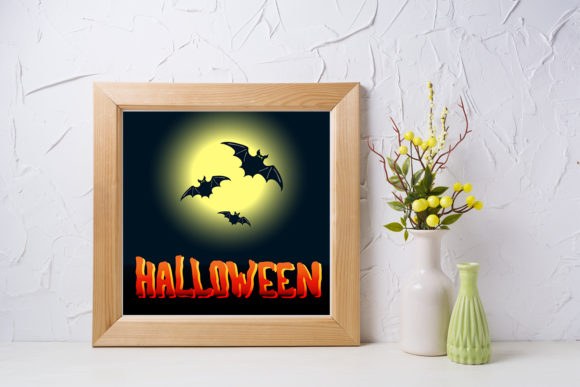 Print on Demand: Halloween Flyer with Full Moon Graphic Illustrations By TasiPas - Image 2