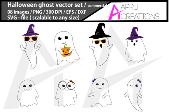 Download Free Halloween Ghost Halloween Ghost Graphic By Aparnastjp Creative for Cricut Explore, Silhouette and other cutting machines.