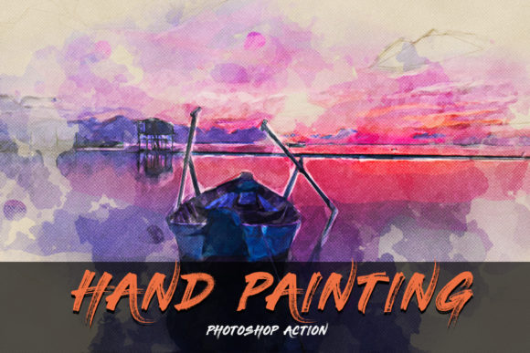 Hand Painting Photoshop Action Graphic Actions & Presets By Creative Creator